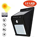 #7: Home Cube® Weather Resistant 12 LED Motion Sensor Solar Light (Black)