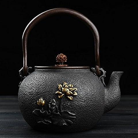 Kung Fu Teapot Teapot Cast Iron Teapot Uncoated South Old Iron Pig Iron Teapot Boiled Teapot