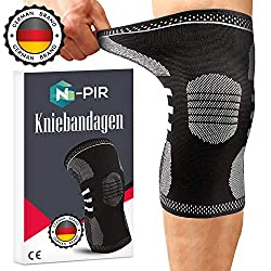 N-PIR praktische Kniebandage für Damen und Herren - Nützliche Sportbandage für den Alltag, Kraftsport und Bodybuilding - Klettverschluss Knie STÜTZE für Meniskus und Arthrose
