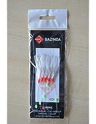 bazinda–Plumas, Silver Flash Sabikis, 5 Hook - Size 1/0