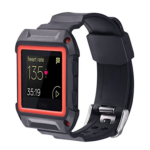 Bandmax TPU Fitbit Blaze Smart Watch Bands with Protective Case,Silica gel Waterproof&Shockproof...