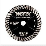 WEFEX Diamant-Trennscheibe Turbo Black-Star 75 mm x 10 mm Feinsteinzeug Fliesen Granit Kacheln Keramik Naturstein passend für Bosch GWS 10,8-76 V-EC