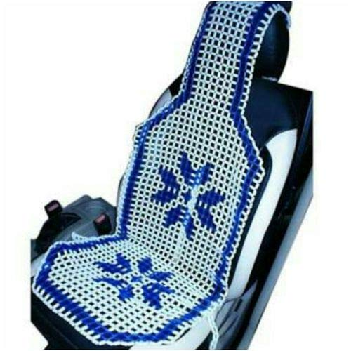 Autokaar Acupressure Design Sweat Control Marble Beads Seat Cover Blue for Mahindra KUV 100