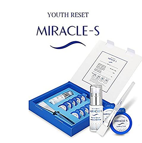 Youth Reset Miracle-S UP Lifting Mask Pack Revital Serum 30ml Full Set / Lifting enhancement, elasticity enhancement, pore convergence, skin keratin management, skin
