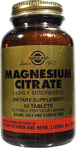 Magnesium Citrate 200 mg 60 Tabletten (vegan) SO -