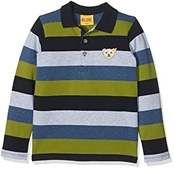 Steiff Jungen Poloshirt 1/1 Arm, Mehrfarbig (Y/D Stripe 0001), 62
