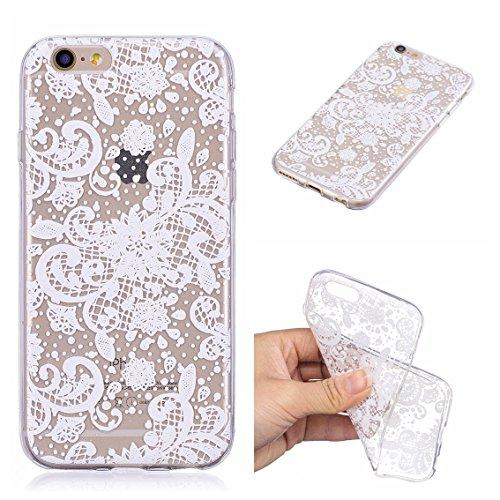 Coque iPhone 6S, iPhone 6 Case, Voguecase [Ultra Fin] [Anti Choc] [Anti Rayures] Premium TPU Silicone, Exact Fit / Léger / Souple Housse Etui Coque Pour Apple iPhone 6/6S 4.7 (Flamant 11)+ Gratuit Sty Fleurs de dentelle 10