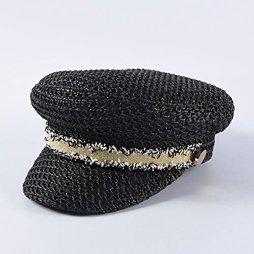 Zaosan Frühling und Sommer Neue kleine Duft Army Cap weibliche britische Mode Flat Top Cap einfarbig lässig wild -