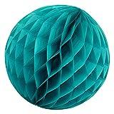 Simplydeko Wabenball Türkis - Honeycomb Lampion für Party und Hochzeit - Handgefertigte Papierkugel (Türkis Mint, 30 cm)