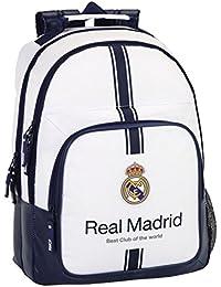 Safta Real Madrid Mochila Doble, Color Blanco