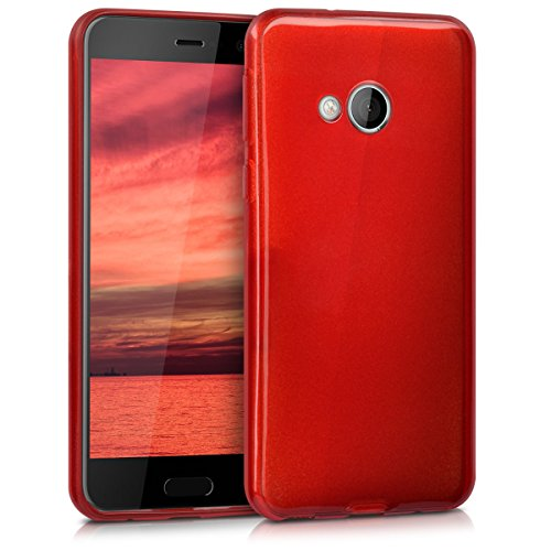 kwmobile HTC U Play Hülle - Handyhülle für HTC U Play - Handy Case in Hochglanz Rot