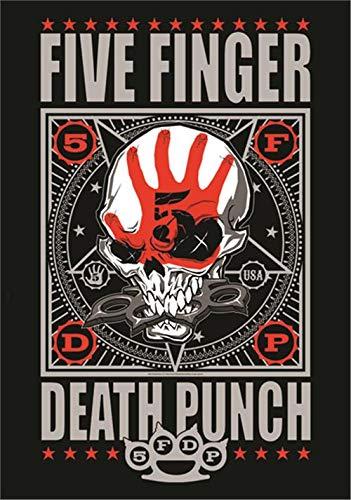 Heart Rock Licensed Flagge 5Finger Death Punch–Punchagram, Stoff, mehrfarbig, 110x 75x 0,1cm