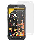 atFolix Panzerfolie kompatibel mit Samsung Galaxy S6 Active Schutzfolie, entspiegelnde & stoßdämpfende FX Folie (3X)