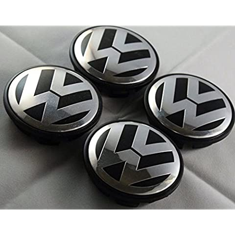 Vw 65mm Wheel Centre Caps Emblems Badges Golf Polo Passat Eos Scirocco