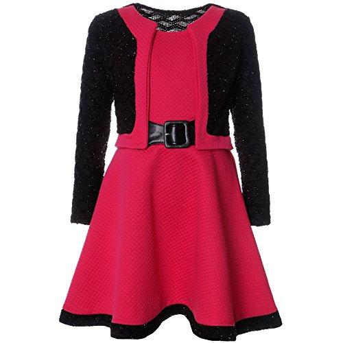 BEZLIT Mädchen Spitze Winter Kleid Langarm 21644, Farbe:Pink, Größe:116