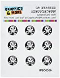 Girly Tête de Mort et Tibias – Home Button Stickers pour Apple iPhone (3G,...
