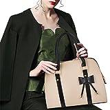 Handbag Shoulder Bag Hot Womens Vintage Messenger Tote with Bow (Beige-A) by S WIDEN ELECTRIC
