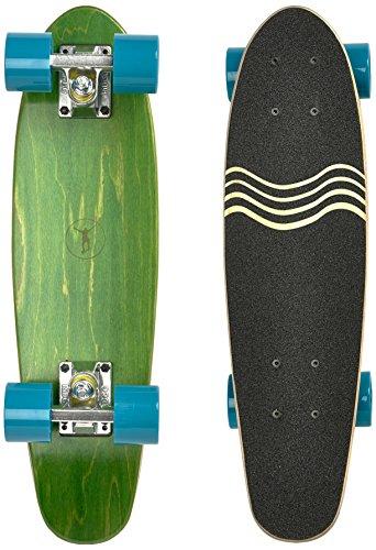 Ridge Skateboard Regal Series Laser Cut Mini Cruisers, Grün/Blau, 22 Zoll, R