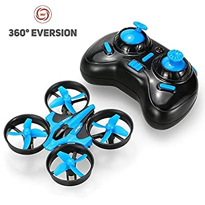 JJRC H36 Mini Drone 4CH 2.4G 6-axis Gyro Headless Mode Remote Control RC Quadcopter RTF One-key Return-Blue