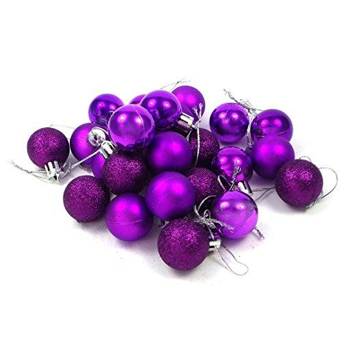 Kleine Minni Dekokugeln Weihnachten Weihnachtskugeln Kugeln matt glänzend Glitzernd 24 Stück 3cm