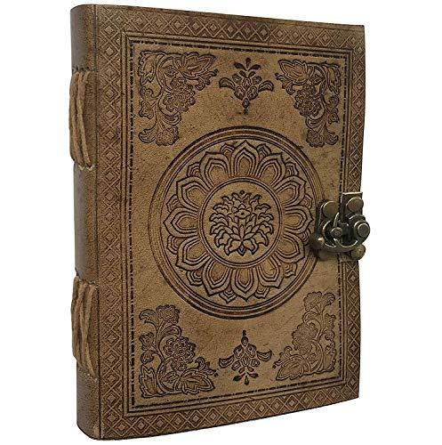 Diario de viaje de piel auténtica, hecho a mano, regalo perfecto para hombres o mujeres, escritura, poetas, viajeros, como diario, inserciones en blanco, 17 x 12 cm