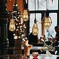 Vintage Edison Glühbirne, otutun Edison LED Lampe E27 4W Warmweiß Retro Glühbirne Squirrel Cage Filament Antike Glühbirne Ideal für Nostalgie und Retro Beleuchtung im Haus Café Bar usw - 3 Stück von otutun
