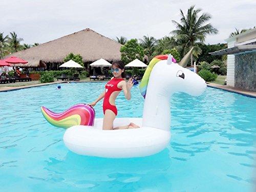 Unicornio hinchable colchonetas piscina  flotador unicornio piscina para adultos 200 x 100 x 90 cm