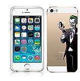 Kaser Coque pour iPhone 55S Se Coque Joker Transparente TPU Soft Coque en Silicone...