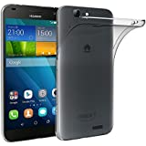 Huawei G7 Funda, iVoler TPU Silicona Case Cover Dura Parachoques Carcasa Funda Bumper para Huawei Ascend G7, [Ultra-delgado] [Shock-Absorción] [Anti-Arañazos] [Transparente]- Garantía Incondicional de 18 Meses