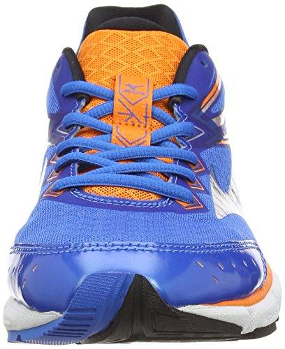 Mizuno Wave Connect 2, Chaussures de Running Entrainement homme Blau (directoire Blue/silver/orange Popsicle)