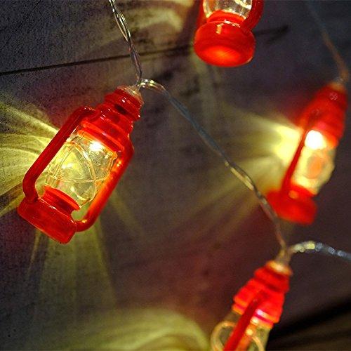 Etbotu Innovation Mini LED Laterne Dekorative Farbe Lampe String (Halloween Karte Hausgemachte)