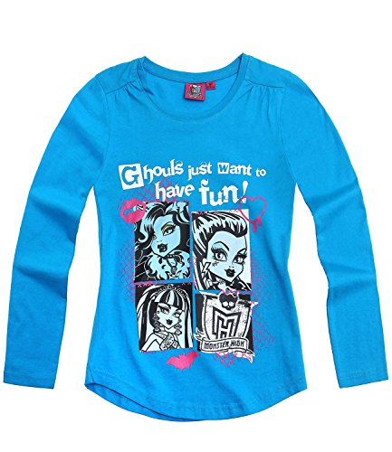 Monster High Langarmshirt blau (152)