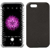 Copertura per Apple iPhone se illuminato a LED caso/Schutzhülle, elecfan Custodia per con luci LED custodia/case, Smart Illuminated 2016nuovi progetto nero