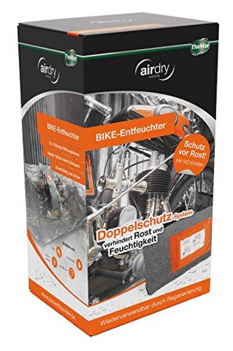 ThoMar airdry BIKE-Entfeuchter, hochwirksamer Schutz für Ihr Zweirad | schützt vor Rost, Elektroschäden und Stockflecken | extra lange Wirkungsdauer | wiederverwendbar