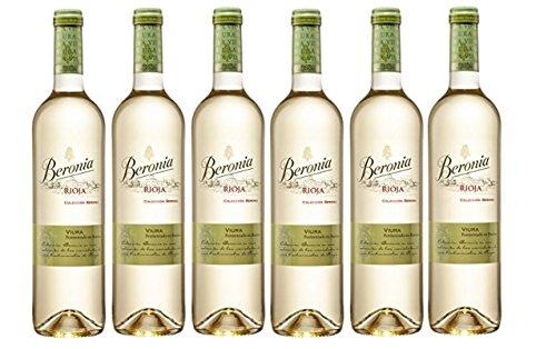 Beronia Viura Fermentado en Barrica - Vino Blanco D.O.Ca. Rioja - 6 Botellas de 750 ml - Total : 4500 ml