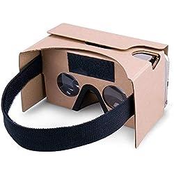 Virtual Real Store - Gafas de Realidad Virtual 3D con Lente óptica 3D de Gran claridad, cómoda Correa para la Cabeza, Todos los Smartphones DE 3 – 5,5 Pulgadas