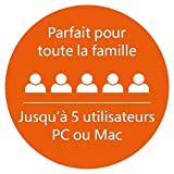 Office 365 Famille 5 PC Windows/Mac + 5 tablettes - Abonnement 1 an