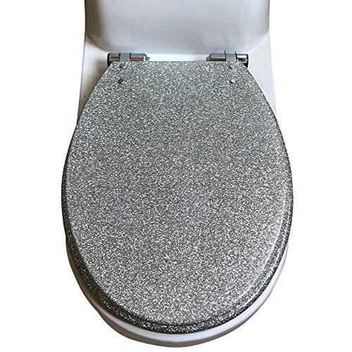 WC-Deckel, European Style Resin Mute Multi Color Dicker Toilettensitzbezug Für U/V-Toiletten,A
