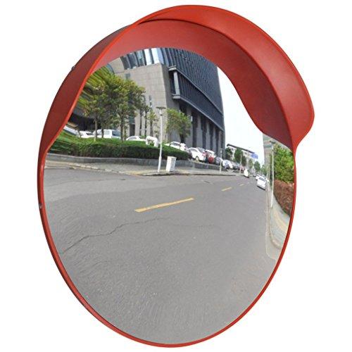 vidaXL Miroir convexe d'extérieur orange en plastique 60 cm Miroir Sortie De Garage
