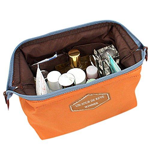 Sanwood Beauté Voyage cosmétique Sac pochette Trousse de toilette Orange taille unique