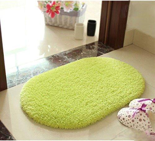 Sannix ovale a forma di Super soffici antiscivolo tappetini tappeto bagno camera cucina salotto Candy (Rust Brown Set Esterno)