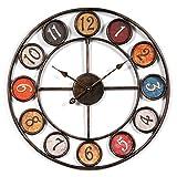 ldi.wa Wanduhr Vintage 60cm Riesenrad Wanduhr Vintage Lautlos Wanduhr Dekorative Für Wohnzimmer, Küche, Büro und Schlafzimmer