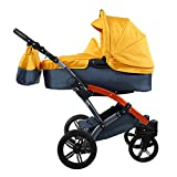 knorr-baby 3100-07 Kombikinderwagen, Voletto Sport, grau/orange