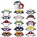 MIANRUII Paw Dog Patrol Masks Party Supplies for Kid (16 Packs) Felt and Elastic - Favores de Fiesta de cumpleaños de Paw Dog Patrol con 16 Tipos Diferentes niños de MIANRUII