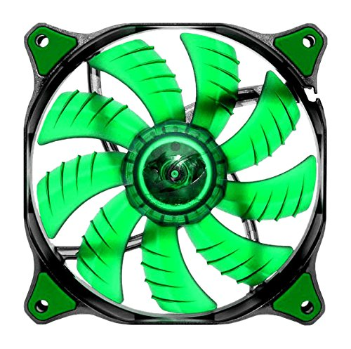 COUGAR CFD120 Green LED HB Luefter 120mm x 25mm 12VDC Hydraulik-Lager 1200RPM 16.6dBA 64.37cfm Befestigungsmaterial Retail