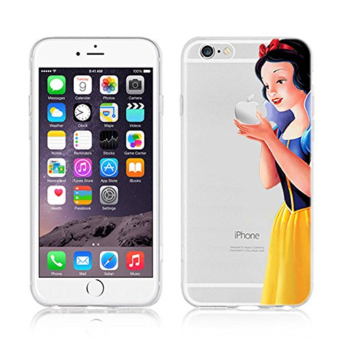 NEW DISNEY PRINCESSES TRANSPARENT CLEAR TPU SOFT CASE FOR APPLE IPHONE 8 PLUS - AREIL 3 SNOW WHITE