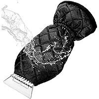 MATCC Raspador de Hielo Rascador Hielo Coche Parabrisas Raspador con Guante Forrado Grueso Negro