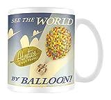 Disney Tasse à thé/café 315ml en céramique Pyramid International « Pixar (Là-haut, voyage en ballon)» - Multicolore - Avec boîte officielle, 315ml