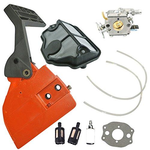 Jrl Frein de chaîne de carburateur filtre à carburant Compatible avec tronçonneuse Husqvarna 136137141142