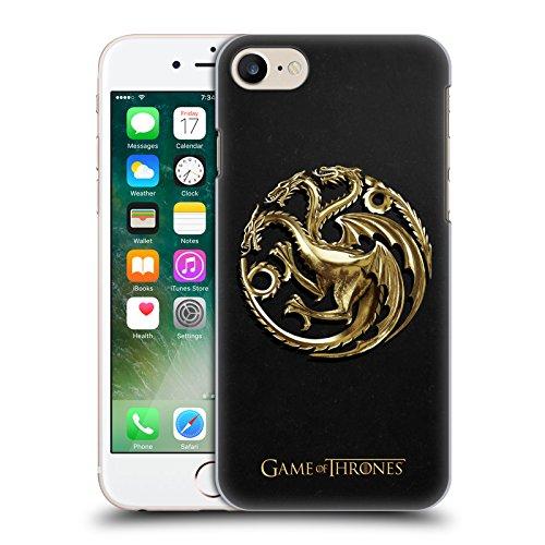 Official HBO Game Of Thrones Gold Targaryen Embossed Sigils Hard Back Case for Apple iPhone 7